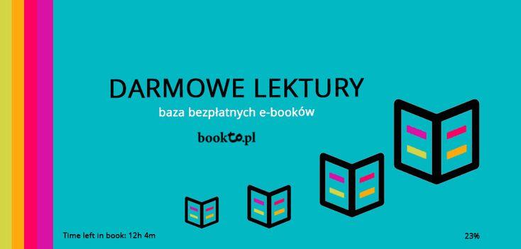 Darmowe lektury szkolne czyli baza bezpłatnych e-booków w formacie epub, mobi i pdf.