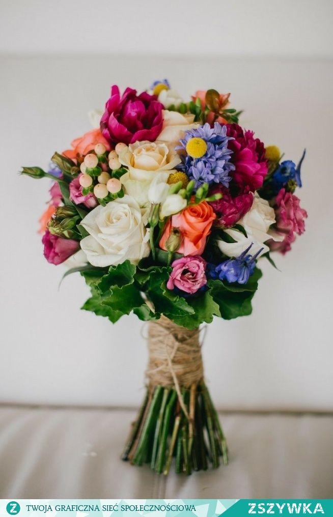 Zobacz zdjęcie Kolorowy bukiet ślubny. Moim zdaniem super! w pełnej rozdzielczości