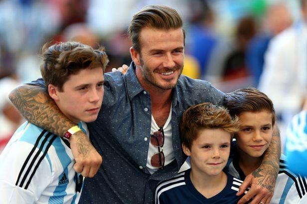 David Beckham Trains His Sons in Martial Arts