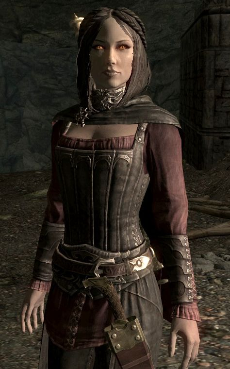 """Serana ~ One of my favorite vampires of Skyrim, incredibly powerful with her lightning spell attacks and very helpful creating diversions. """"Done and Done"""", that is her signature quote I love to hear from Serana. She interacts well with the environment. One of the few classy and fiesty ladies of Skyrim."""