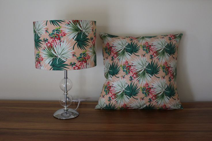 Lamp and cushion look great in these colours, very tropical!