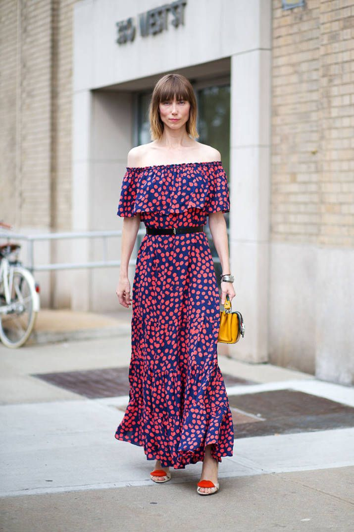 The 90's are taking the fashion world by storm; the next big thing are off the shoulder dresses and tops: