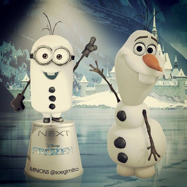 What!?! Two of my faves, together!~Minion Olaf
