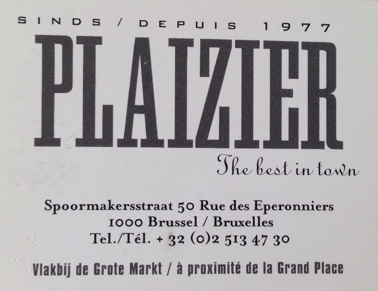 Plaizier Brussels