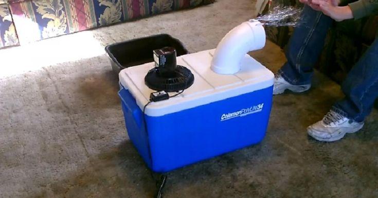 HAHAHAHAHA! FALLAIT Y PENSER! Vous avez un vieux cooler, un tuyau, un petit ventilateur et une scie sauteuse? Et bien, vous pouvez dès maintenant vous fabriquer un air climatisé en quelques minutes! Surtout avec les chaleurs présentement, ça peut vou