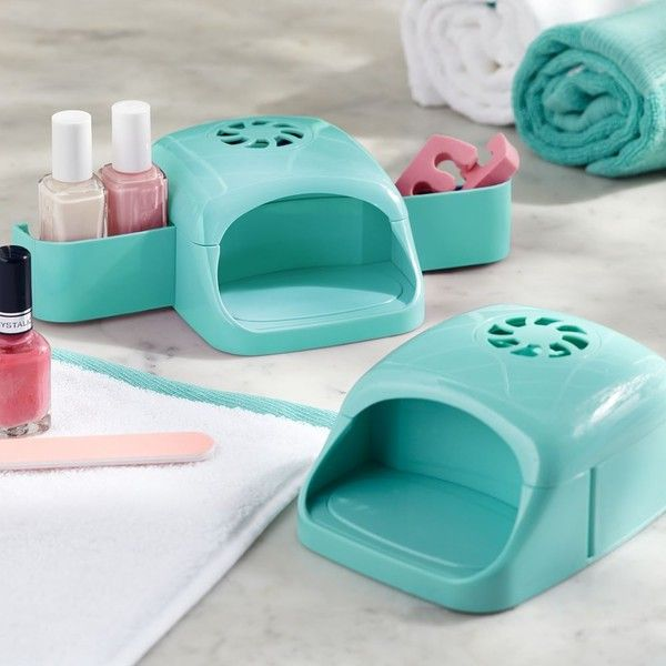 PB Teen Manicure Nail Dryer, Baltic at Pottery Barn Teen - Bathroom... ($20) ❤ liked on Polyvore featuring beauty products, nail care, manicure tools, pbteen, hair blow dryer and blow dryer
