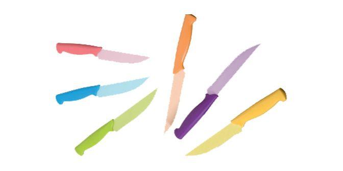SET COLTELLI DA BISTECCA - BRANDANI GIFT GROUP  Set n° 6 coltelli da bistecca in acciaio antiaderente colorato.