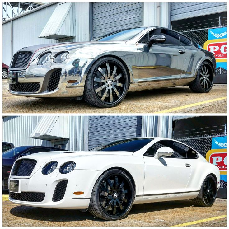 One For The Ladies Bentley Continental Gt Pink: Bentley Continental GT Supersports Wrapped In Black Chrome