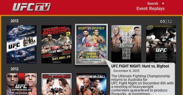 Watch UFC Fight Night Live on Your Roku!!!