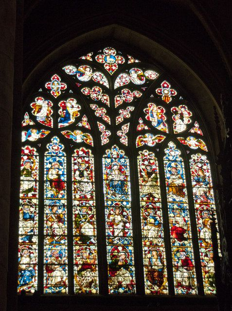 Stained glass window at Durham Cathedral