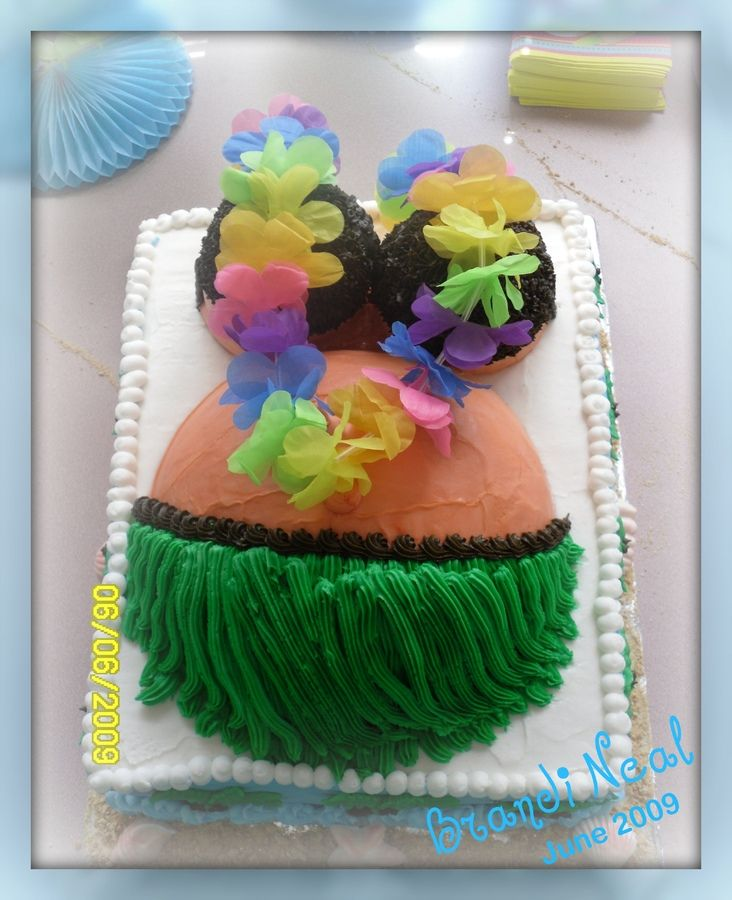 hawaiian baby shower cake hawaiian baby