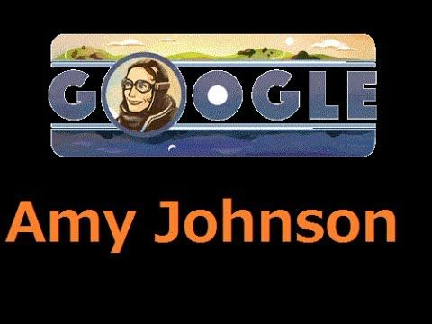 Amy Johnson , Amy Johnson GOOGLE DOODLE ,  Amy Johnson's 114th Birthday