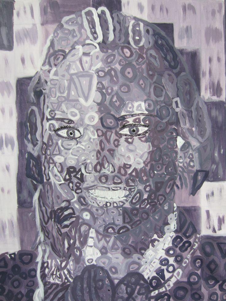Chuck Close style self portrait