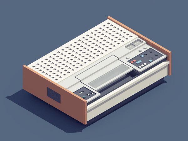 Remember the VCR? Fab #animated tributes to #retro electronics by Guillaume Kurkdjian http://www.booooooom.com/2016/04/18/illustrator-spotlight-guillaume-kurkdjian/