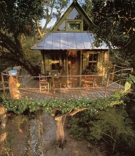 Treehouse with a balcony, Fall City, Washington: Bucket List, Idea, Tiny House, Flower Ringed, Tree Houses, Trees, Place, Treehouses