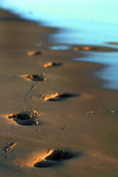 Footsteps in the sands of Surfers Paradise Beach. A gorgeous photo, for a gorgeous beach