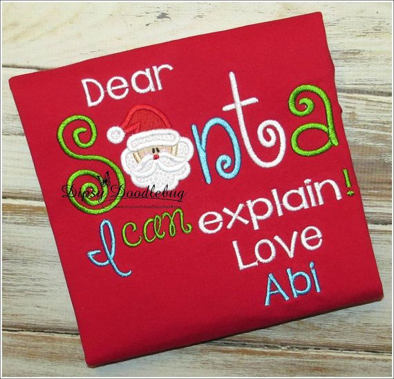 Dear Santa I can Explain Childrens Red Christmas Pajamas - Christmas Pajamas- Childrens Christmas PJs- Personalized Pajamas