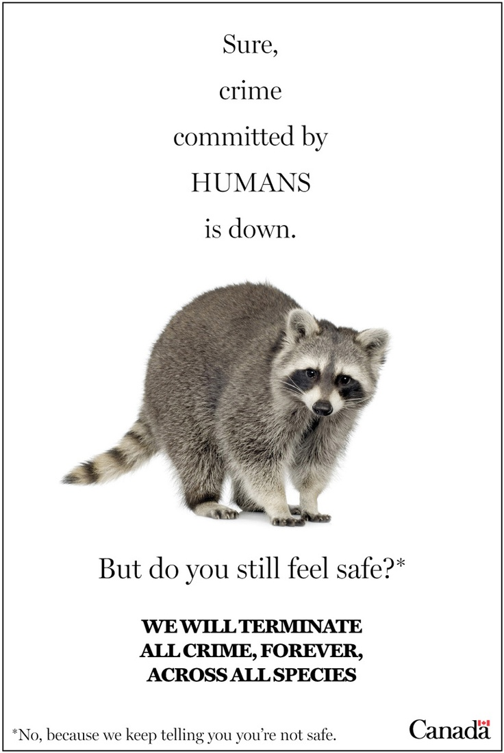 Fighting raccoon crime and blaming the Liberals!: A look at some (possible) future Conservative government ad campaigns