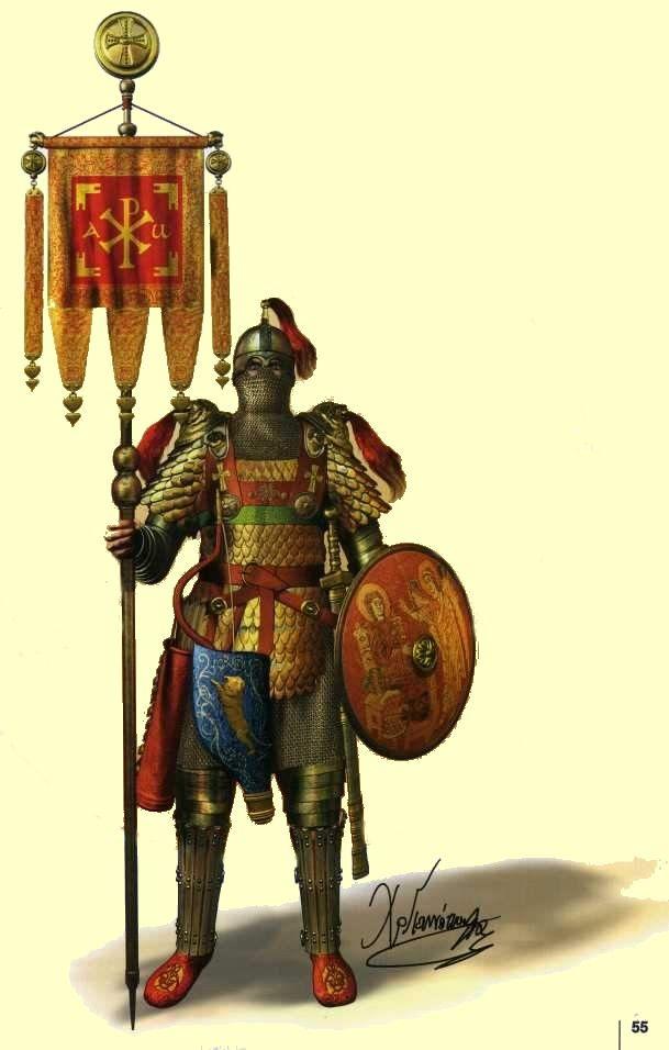 Uniforme de soldado griego antiguo