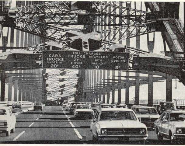 Toll charges for Sydney Harbour Bridge in 1976.Photo from National Library of Australia.A♥W
