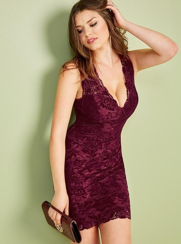 910153b9c8 Holiday Dress Wishlist  Drea Lace Dress  LoveGUESS