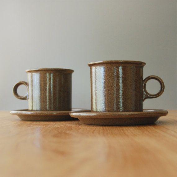 "Vintage Eslau of Denmark ""Maren"" Tea Cups & Saucers - Tue Poulson"