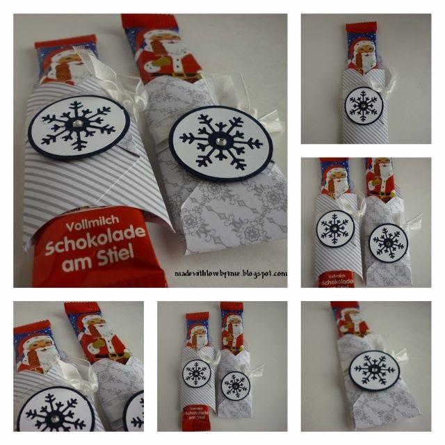 Envelope Punch Board / Schoko-Goodies: made with love by kme: Anleitung. Ausgangspapier: 11,5cm x 11,5 cm, erster Falz bei 4 cm