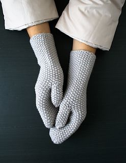 Seed Stitch Mittens + Hand Warmers by Purl Soho