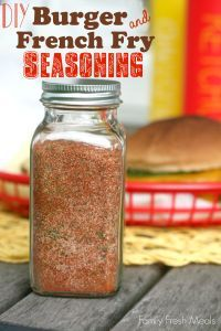 DIY Burger and French Fry Seasoning - Fun gift idea for the holidays! FamilyFreshMeals.com