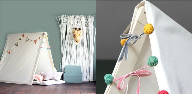 KM - I love the idea of a tent or teepee in the play room somewhere for reading and hiding.