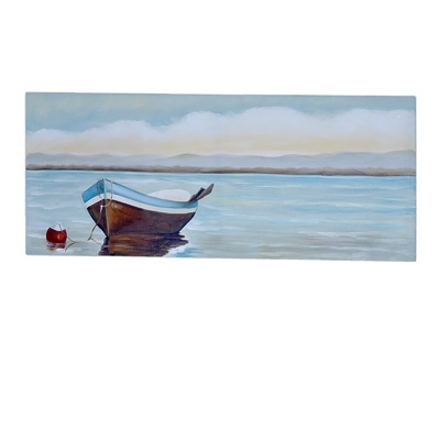 Boat On Water Painting     List $44.99   SKU 108451   39.5inches widex 1inches longx 16inches high