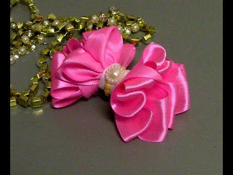 Laço de fitas com varias camadas -D.I.Y ,PAP -Satin ribbon bow - YouTube