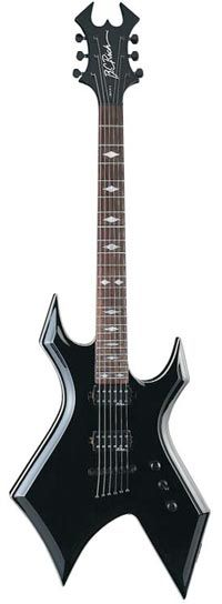 B.C. Rich Warlock in black