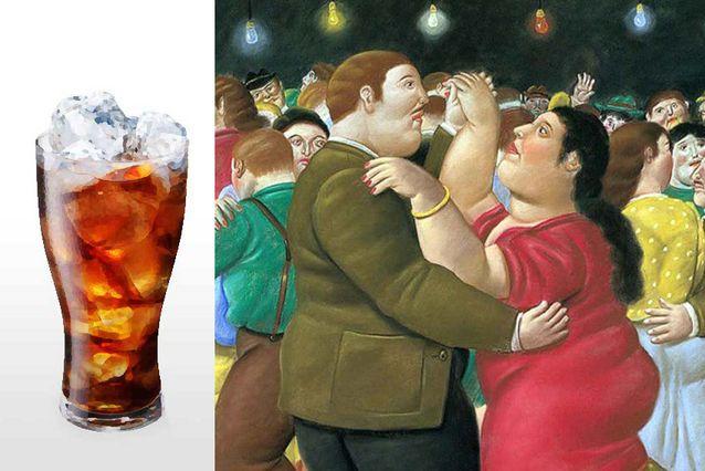 Fotomontaje con pintura de Fernando Botero