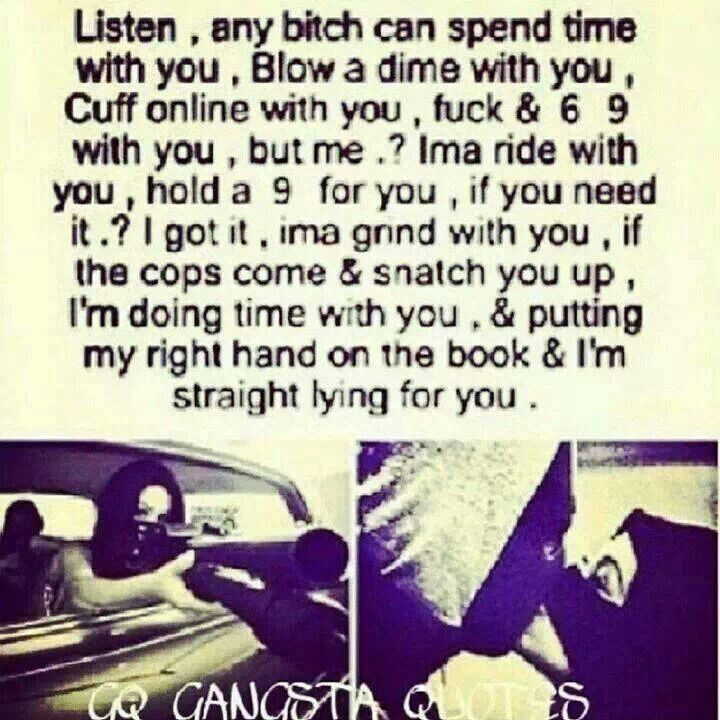 gangster ride or die quotes relationship