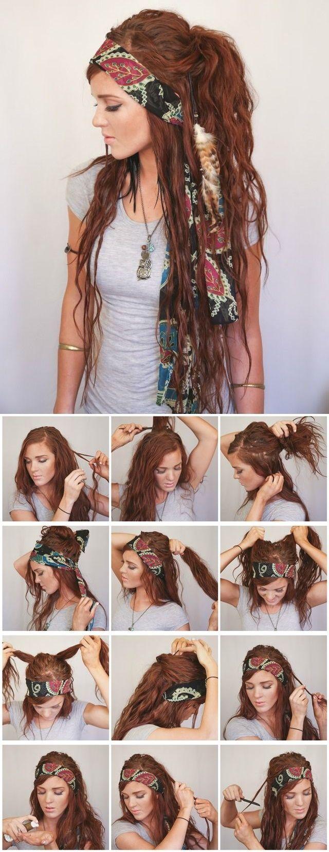 boho hairstyle2  visit way more natural boho fashion at https://naturaledgestyle.com
