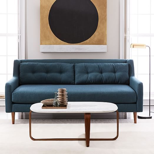 West Elm Crosby Chair Stretch Covers For Wingback Chairs 16 Best Turquoise And Teal Couches Images On Pinterest | Couch, Canapes Blue