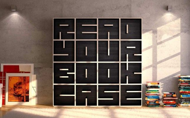 Read Your Bookcase (contact to order): Seriously, how amazing is this bookcase? It's art meets function in an awesome way.