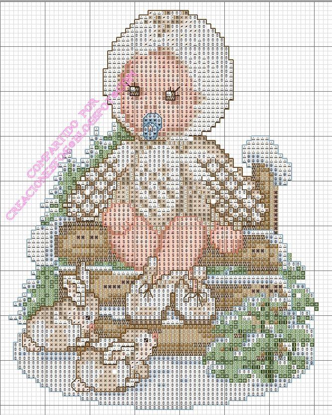 creaciones FOG: col punto de cruz bebés disfrazados: lechuza