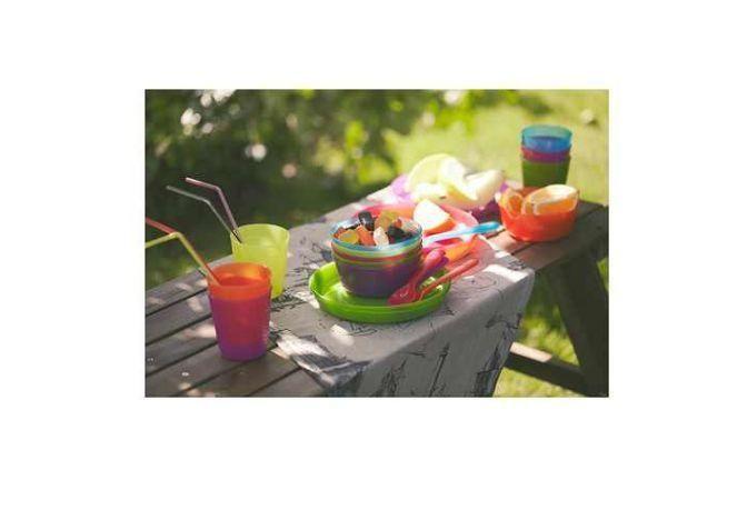 18 Cutlery Set Spoon Knife Fork Party Kids Meal Picnic Food Bowls Ikea Mug Plate
