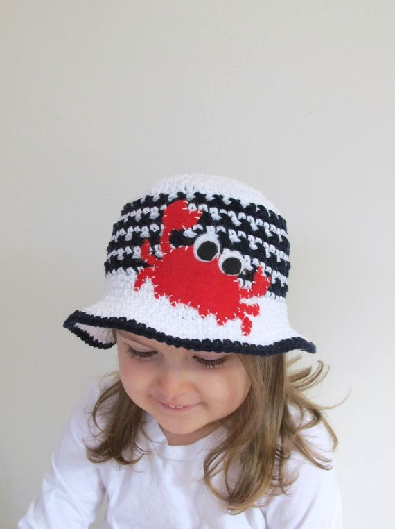Crabby Cotton Sun Hat for Bethenny Frankel's by HunkyDoriBoutique