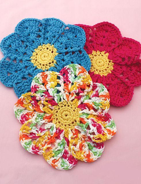 Ravelry: Flower Dishcloth pattern by Lily / Sugar'n Cream