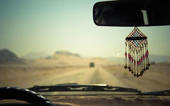 need beaded rearview mirror thing...