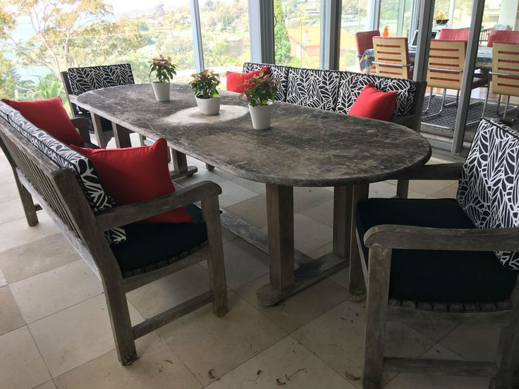 Stuart shared a photo of the new cushions on their balcony.  #outdoorcushions