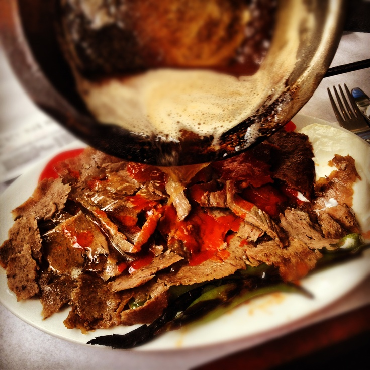 İskender kebap - one of the most famous meats in Turkey. Be sure to add this to your 'must eat list'.