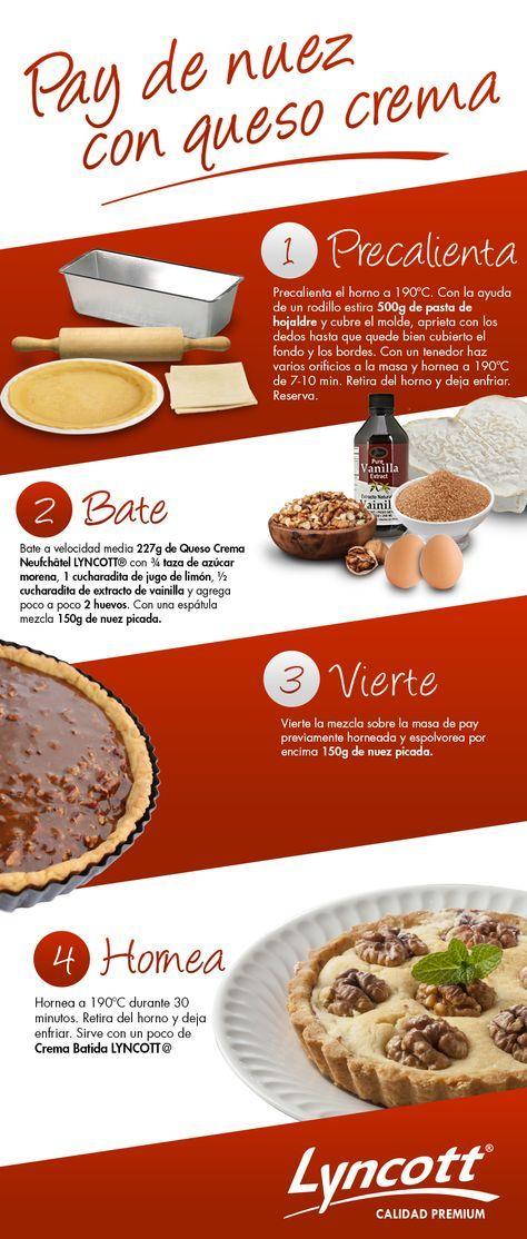 Pay de nuez con queso crema #Lyncott #RecetaFácil #Postre #Delicioso #Dulce #Pay