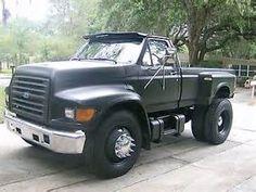 1997 Ford F800 pickup Diesel cummins. A definite retirement truck possibility.