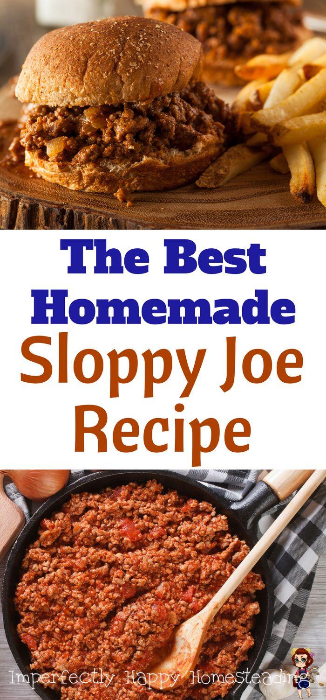 The Best Homemade Sloppy Joe Recipe!