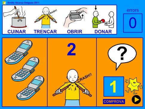 PROBLEMATES 2: Activitat  de l'Emilia Alcaraz Delgado on resoldre problemes visuals de suma o resta (quantitats fins el 10), amb un contingut textual mínim, per facilitar la seva resolució. Aquests problemes també estan adreçats als nouvinguts.
