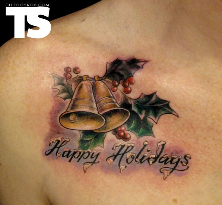 Christmas Tattoos On Pinterest Stockings Holidays And